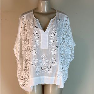 Johnny Was Jade Collection Tunic Top White Small